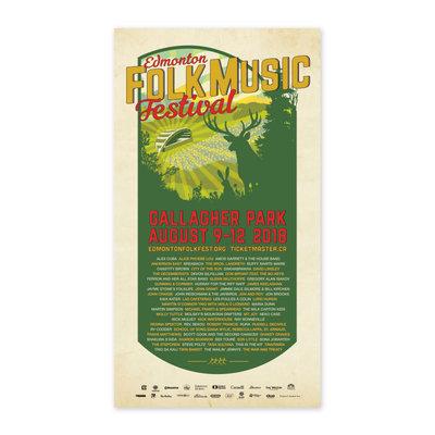 Vivid Print Edmonton Folk Music Festival 2018 Poster