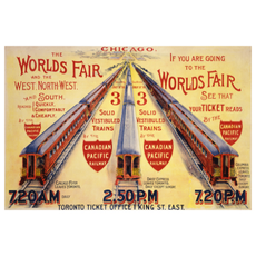 Eurographics Chicago The World's Fair by Solid Vestibuled Trains