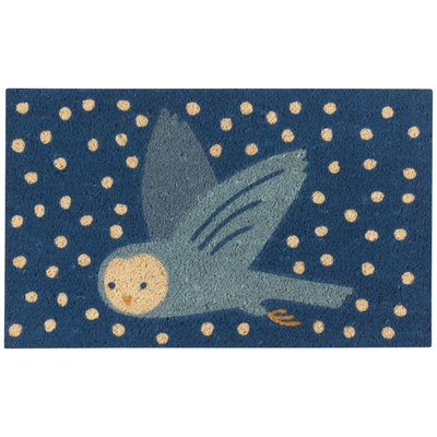 Danica Snow Much Fun Owl Doormat