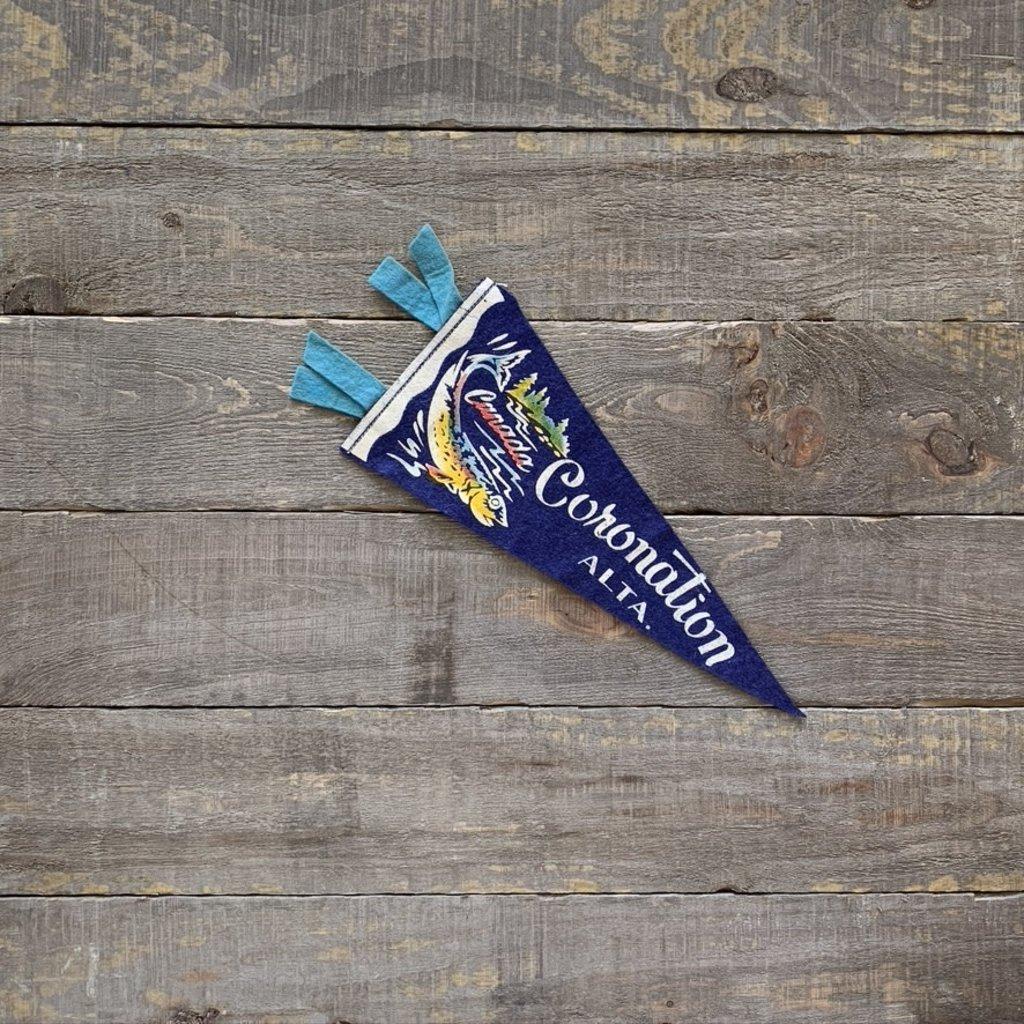 Vivid Vintage Vintage Coronation  Pennant Blue