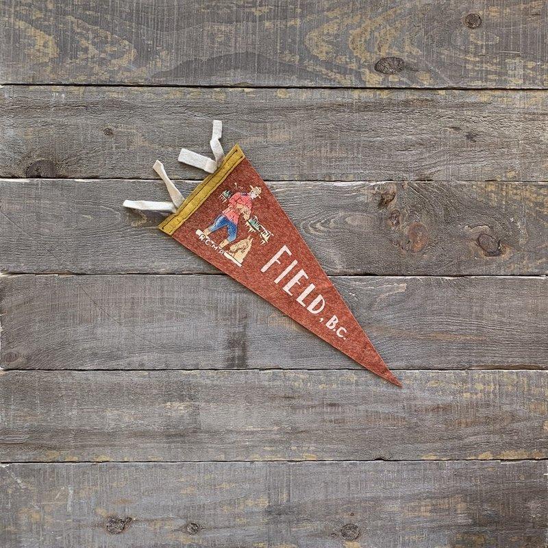 Vivid Vintage Vintage Field  Pennant Red