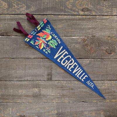 Vivid Vintage Vintage Vegreville  Pennant Blue