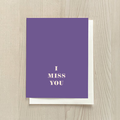 Vivid Print I Miss You