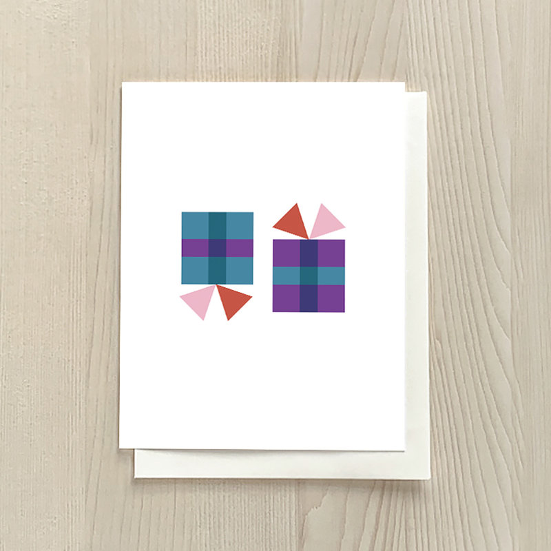 Vivid Print Simple Cadeau