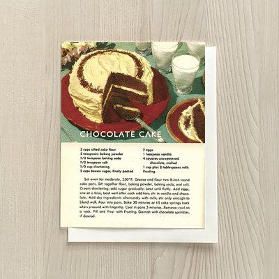 Vivid Print Chocolate Cake