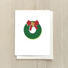 Vivid Print Wreath