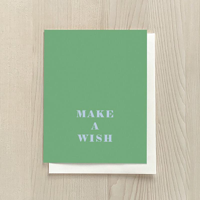 Vivid Print Make A Wish Green