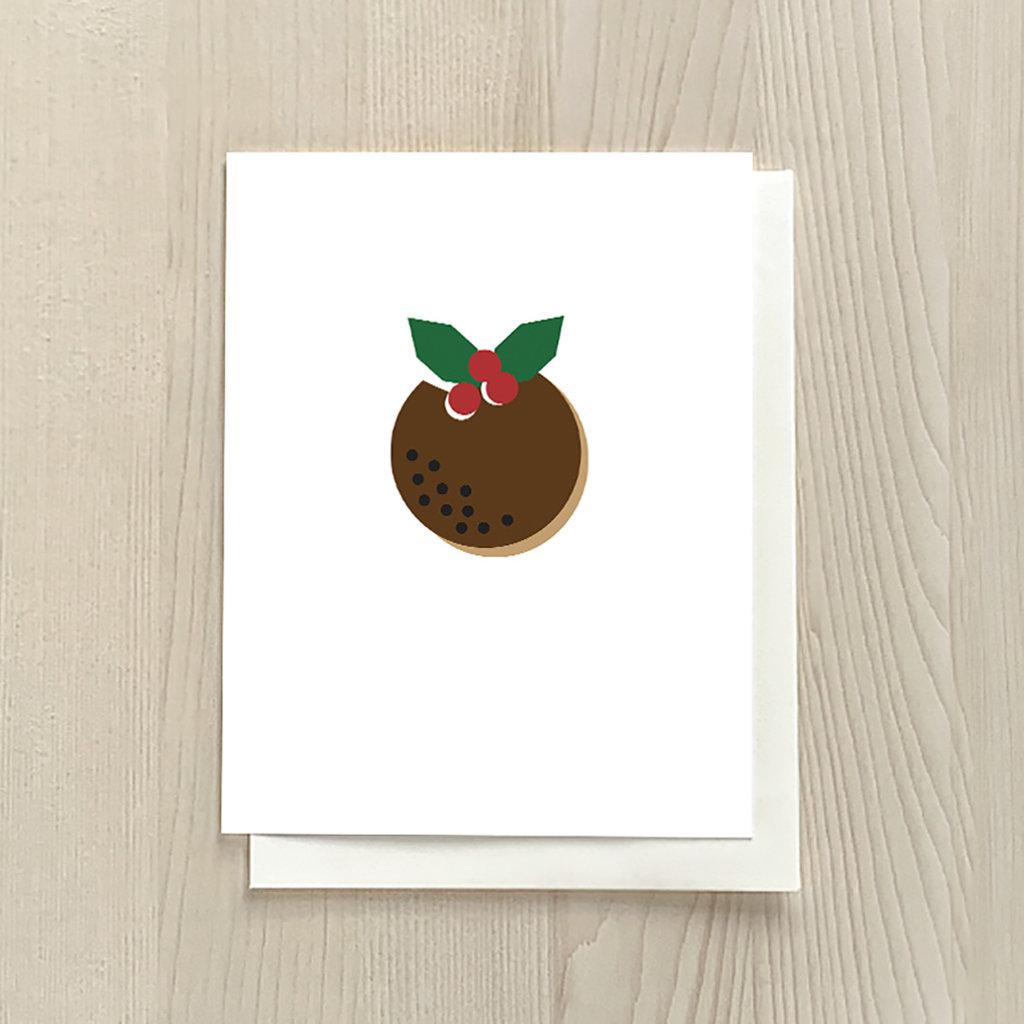Vivid Print Christmas Pudding