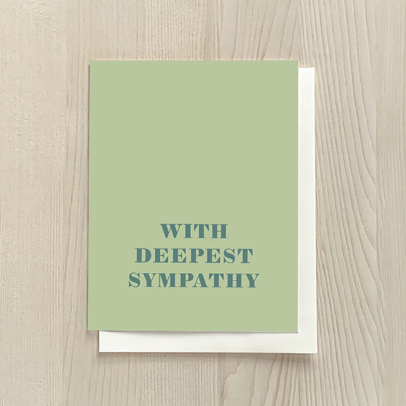 Vivid Print With Deepest Sympathy