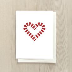 Vivid Print Candy Cane Heart