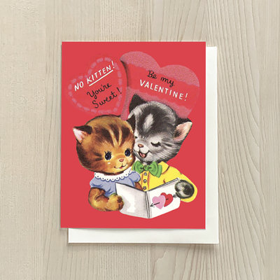 Vivid Print Kitten Valentine