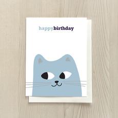 Vivid Print Birthday Cat