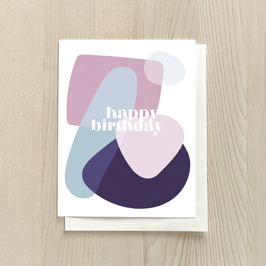 Vivid Print Birthday Shapes