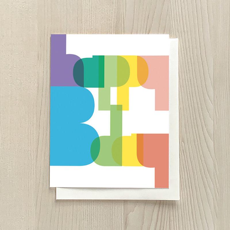 Vivid Print Colourful Birthday