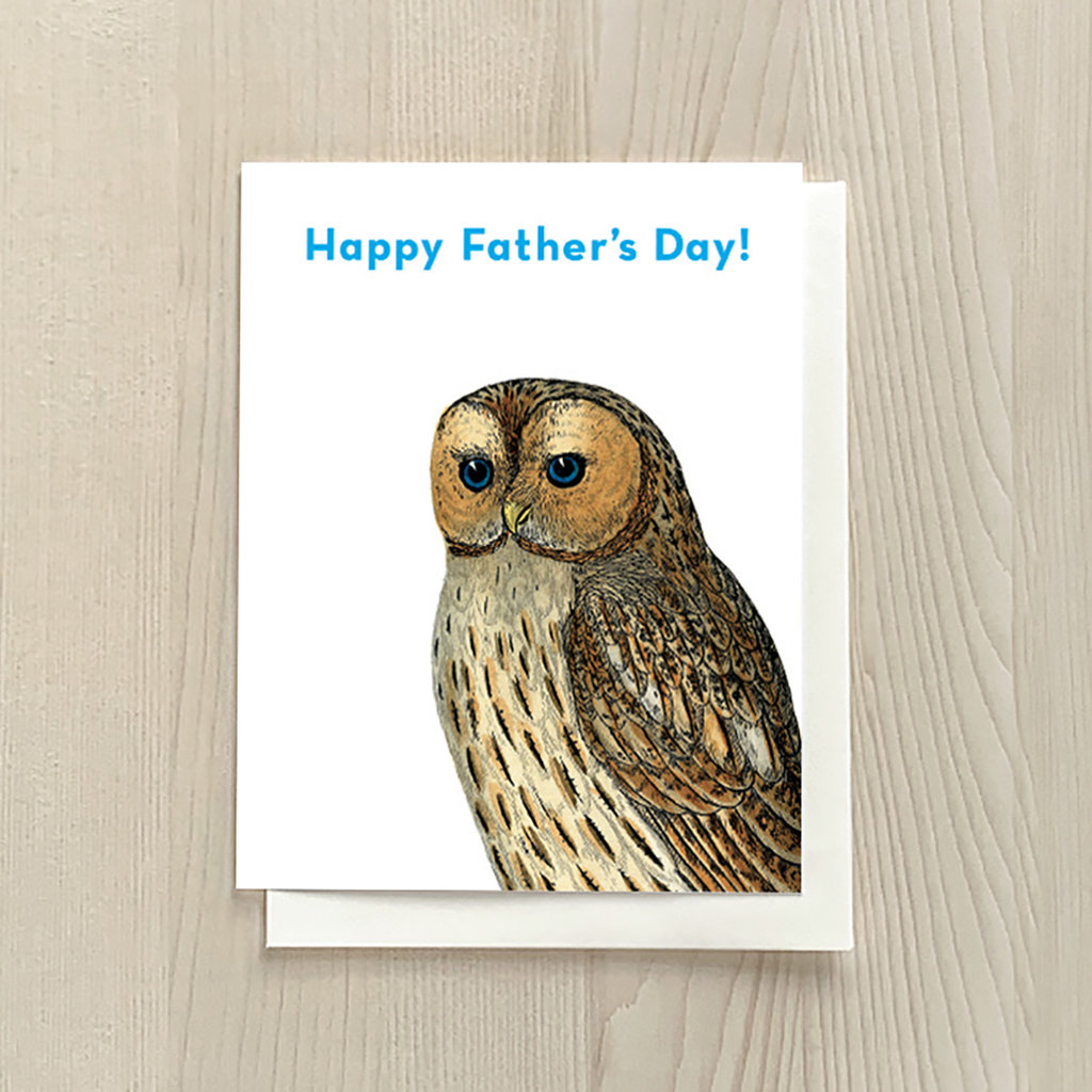 Vivid Print Father's Day Owl