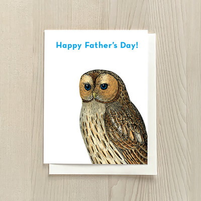 Vivid Print Father's Day Owl