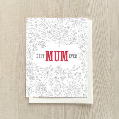 Vivid Print Best Mum Ever