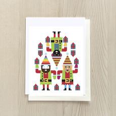 Vivid Print Elf Trio