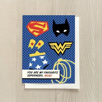Vivid Print Superhero Mom