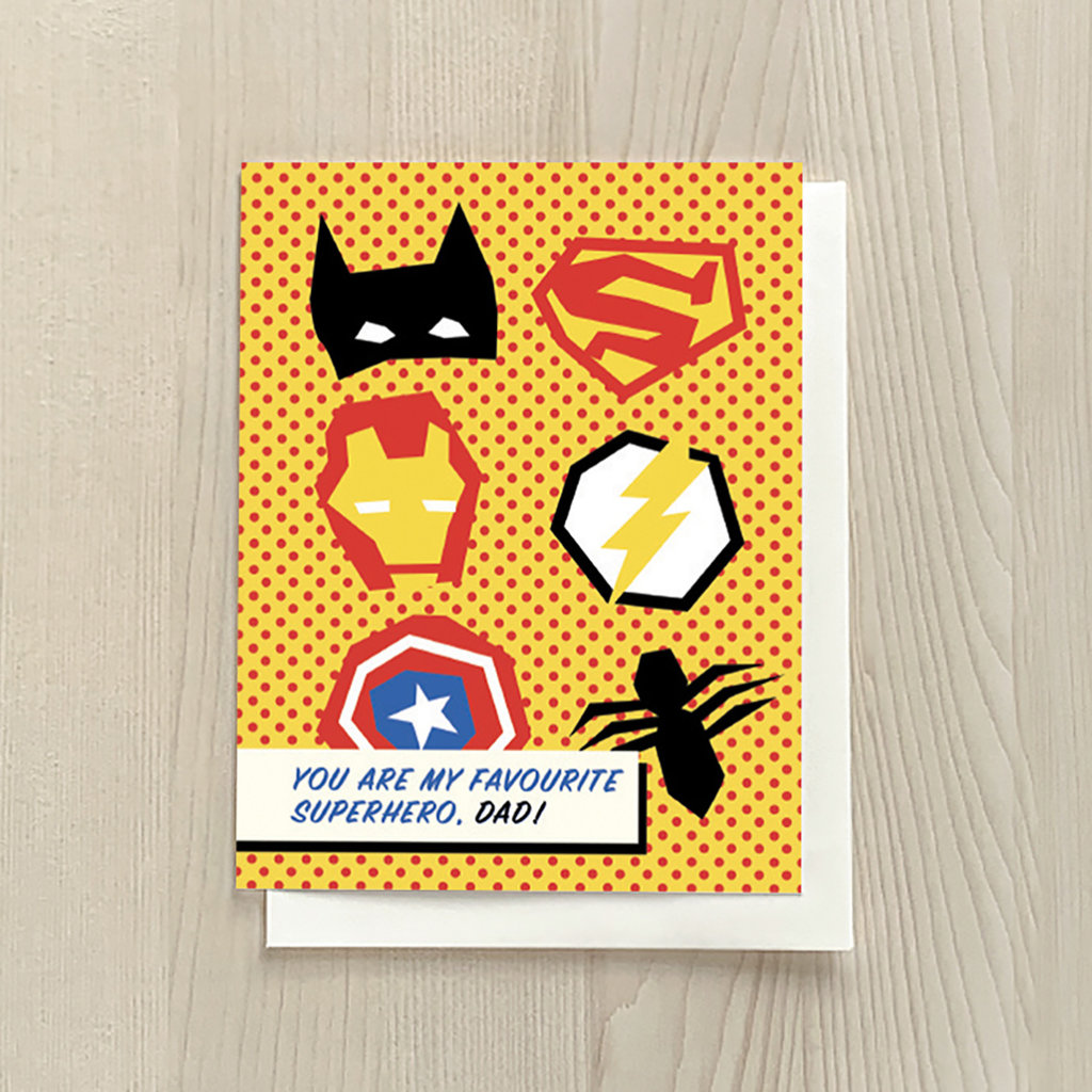 Vivid Print Superhero Dad