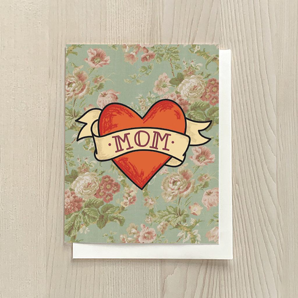 Vivid Print Mom Tattoo Heart