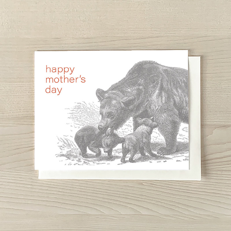 Vivid Print Mother Bear