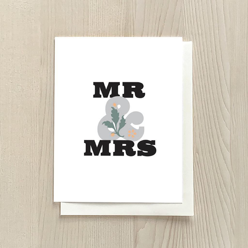 Vivid Print Mr & Mrs