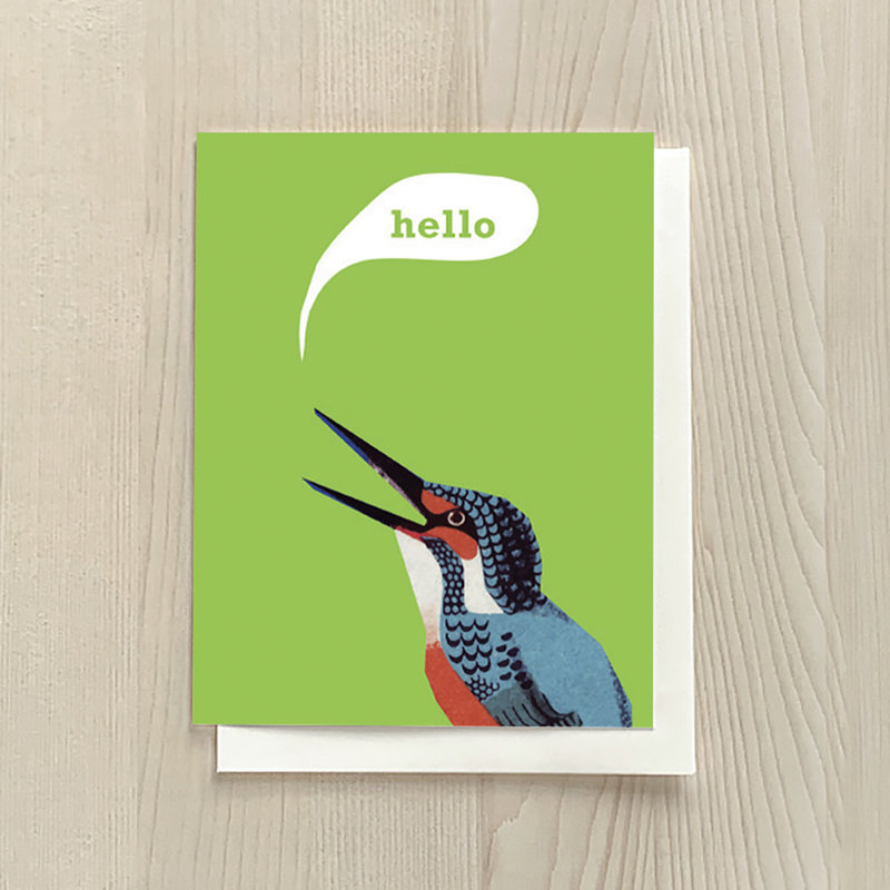 Vivid Print Hello Bird