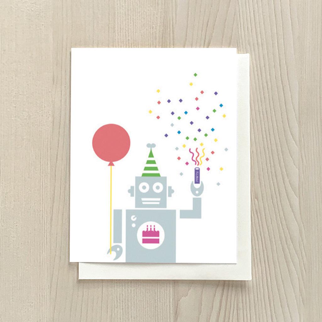 Vivid Print Robot Birthday