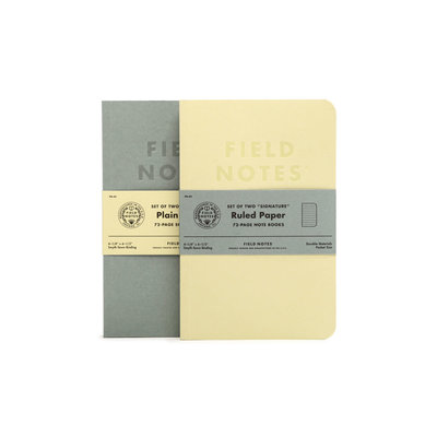 Field Notes Field Notes Signature Plain Edition