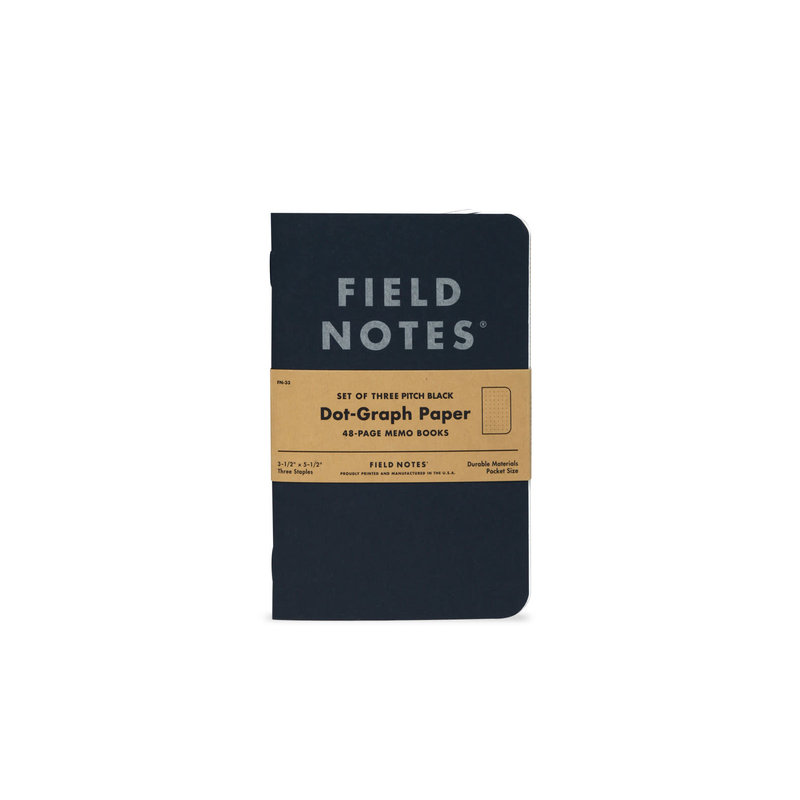 Field Notes Field Notes Pitch Black Memo Book Dot Graph