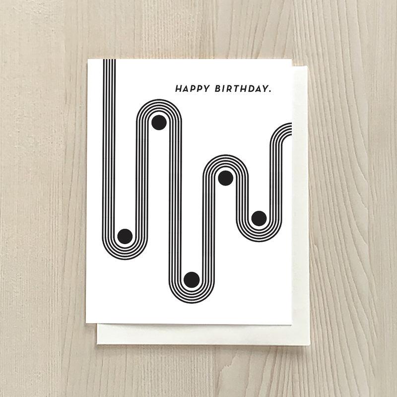 Vivid Print Birthday Curves