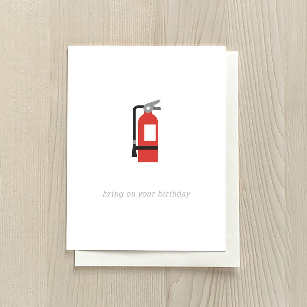 Vivid Print Birthday Extinguisher