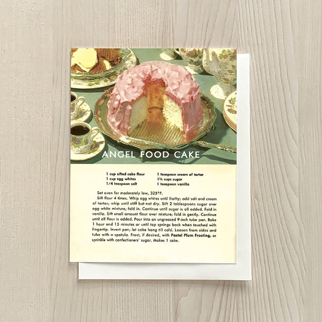 Vivid Print Angel Food Cake