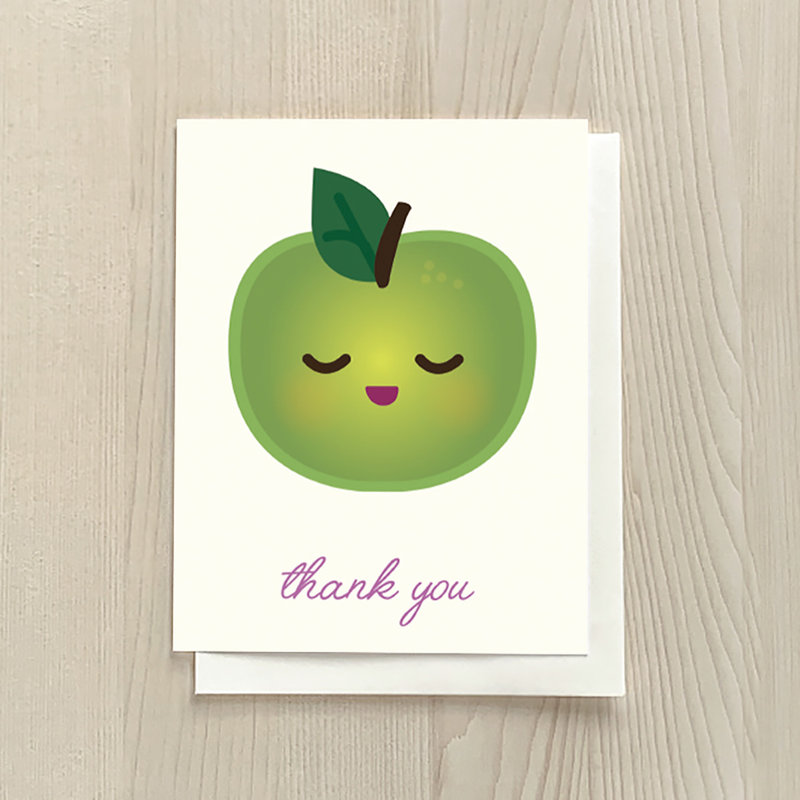 Vivid Print Apple Thank You