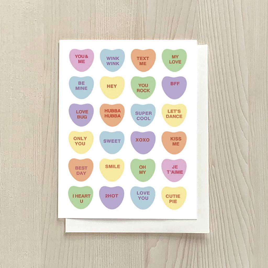 Vivid Print Candy Hearts