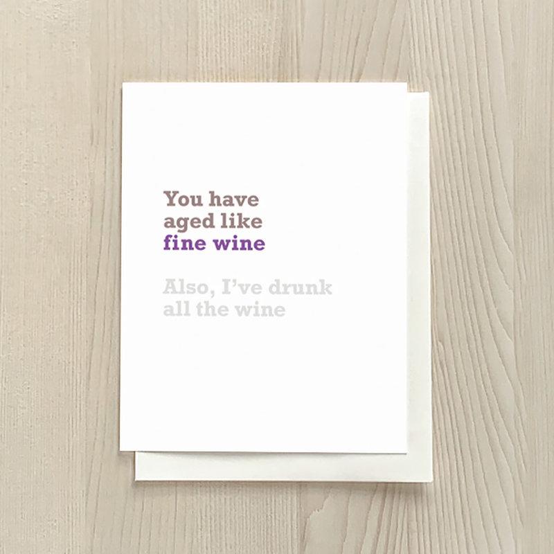 Vivid Print Fine Wine