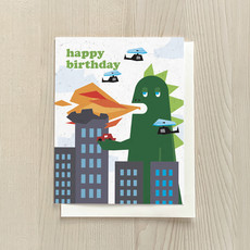 Vivid Print Godzilla Birthday