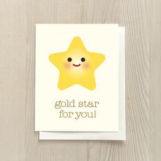 Vivid Print Gold Star