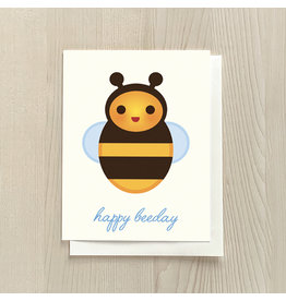 Vivid Print Happy Beeday