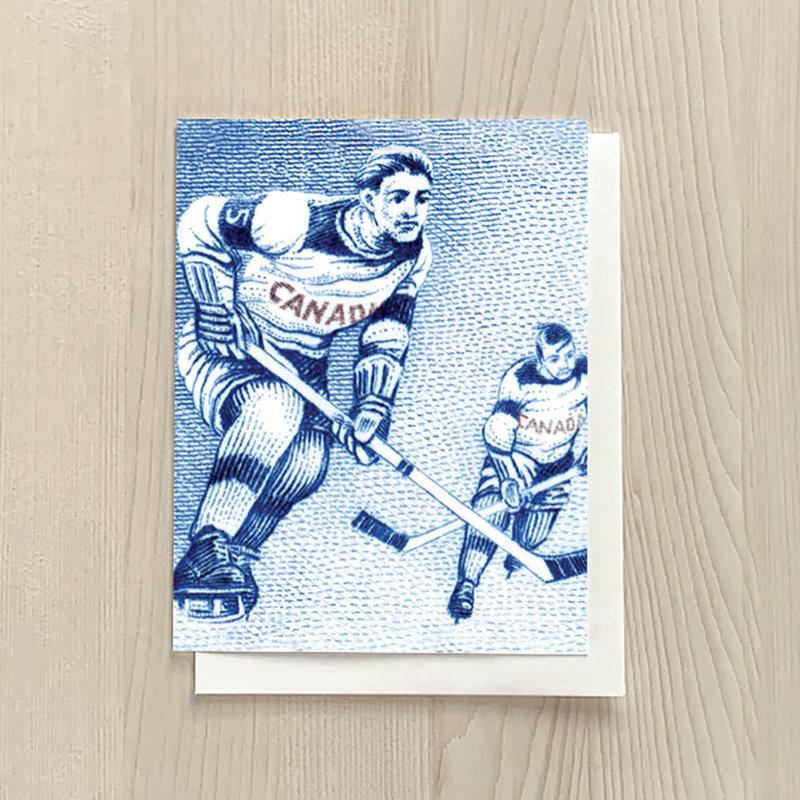 Vivid Print Hockey Card
