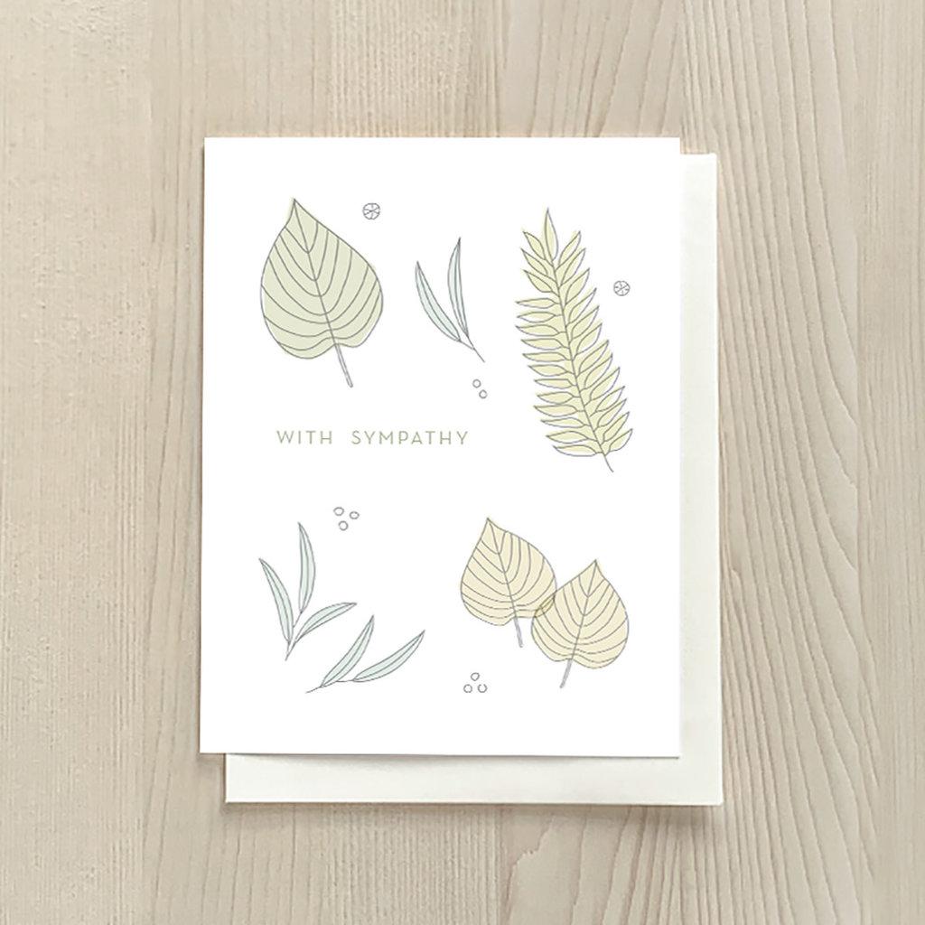 Vivid Print Leaf Sympathy