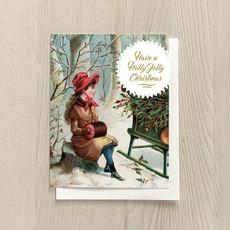 Vivid Print Holly Jolly Girl