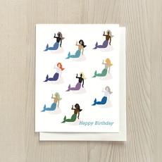 Vivid Print Mermaid Birthday