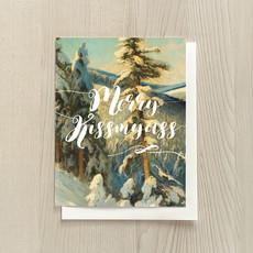 Vivid Print Merry Kiss My Ass
