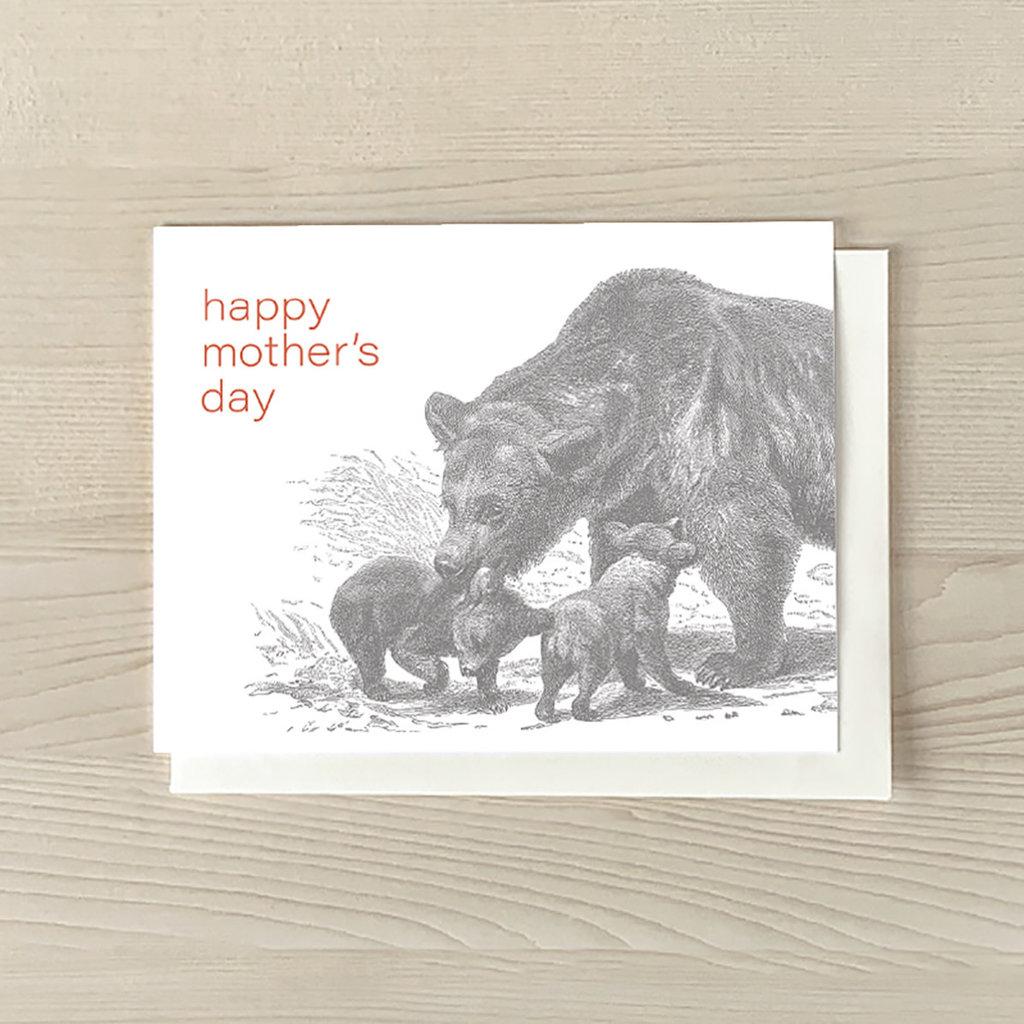 Vivid Print Mother Bear