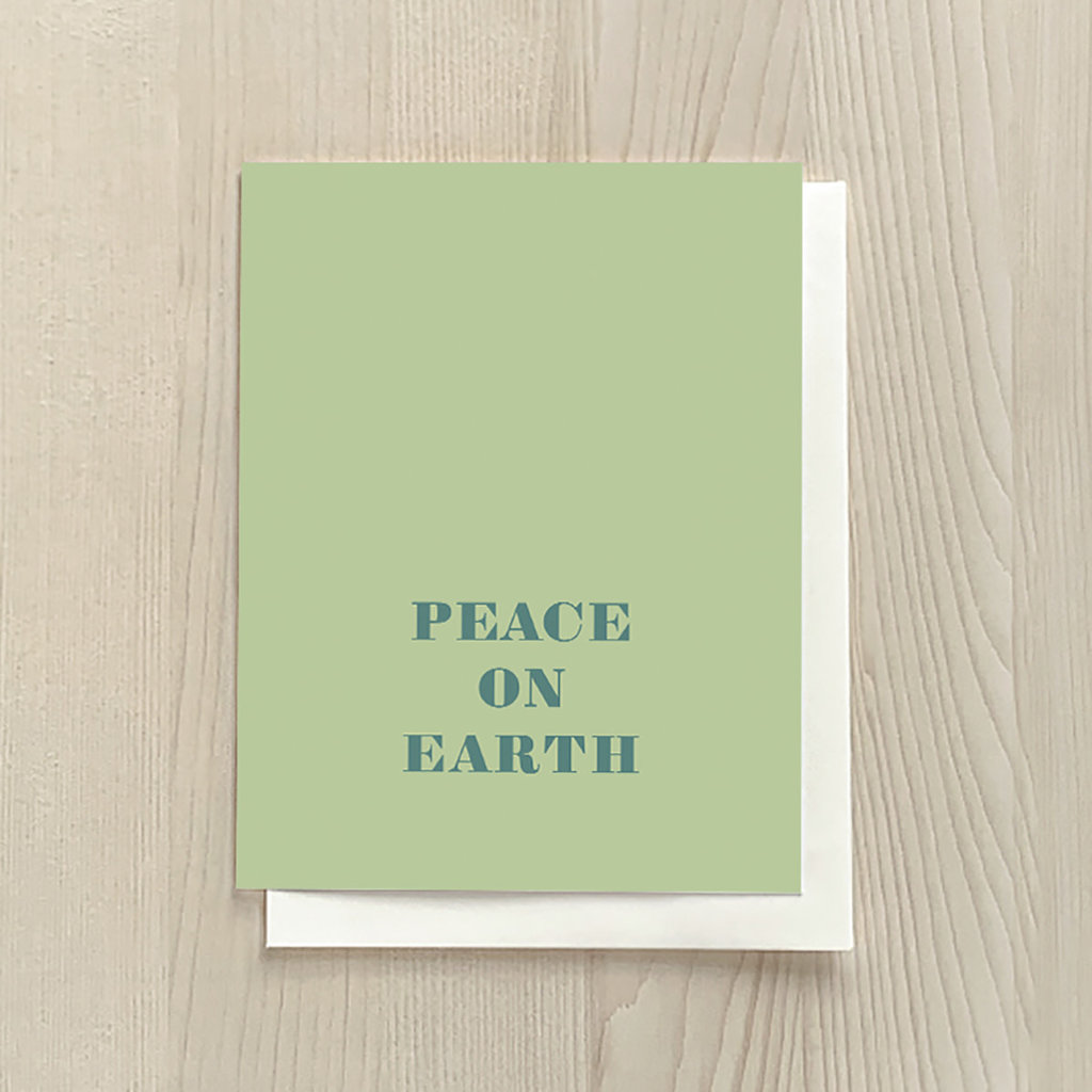 Vivid Print Peace on Earth