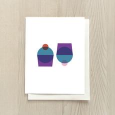 Vivid Print Simple Petit Gâteau