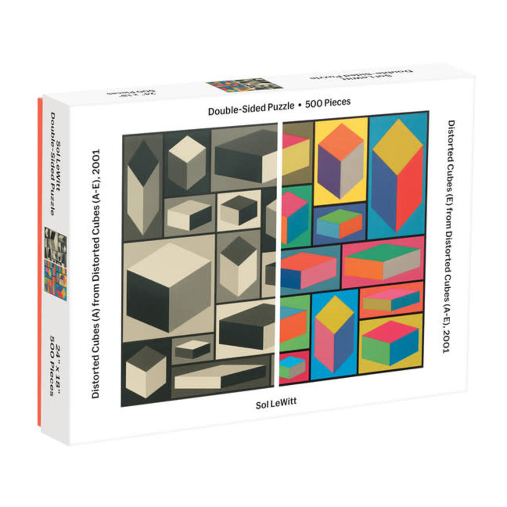 Galison Mudpuppy MoMA Sol Lewitt 500 Piece 2-Sided Puzzle