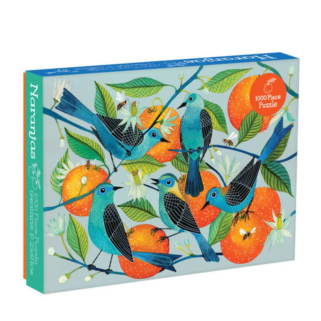 Galison Mudpuppy Geninne Zlatkis Naranjas 1000 Piece Puzzle